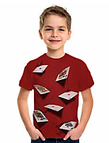 cheap -Kids Boys' Basic Holiday Jacquard Short Sleeve Tee Red