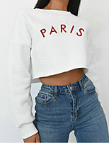 cheap -Women's Cotton Sweatshirt Long Sleeve Artistic Style Crop Top Sport Athleisure T Shirt Soft Comfortable Exercise & Fitness Everyday Use Daily Fitness / Kid's / Rainbow