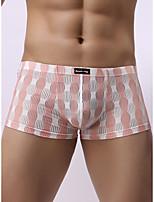 cheap -Men's Basic Boxers Underwear - Normal Low Waist Light Blue Black Red M L XL