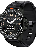 cheap -NORTH EDGE Men's Sport Watch Smartwatch Digital Outdoor Water Resistant / Waterproof Silicone Black Analog - Digital - Black One Year Battery Life / Touch Screen / Heart Rate Monitor / Chronograph