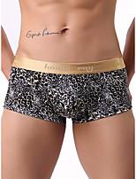 cheap -Men's Print Boxers Underwear - Normal Low Waist Black M XXL