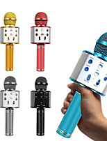 cheap -WS-858 Bluetooth Wireless Microphone Handheld Karaoke Mic USB Mini Home KTV For Music Playing Singing Speaker Player