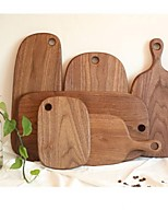 cheap -Black Walnut Wood Cutting Board Kitchen Chopping Board 6 Styles Pizza Disks Real Wood Appetizer and Dessert Pizza Plate 1pc