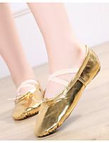 cheap -Women's Dance Shoes Latin Shoes Flat Flat Heel Gold / Silver / Leather