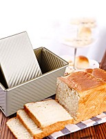 cheap -Bread Baking Mould Loaf Pan with Cover Cake Toast Non-Stick Box with Lid Gold Aluminized Steel Mold