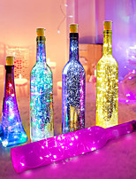 cheap -6pcs 2M 20LED Wine Bottle Lights Button Battery Powered Garland Fairy Christmas LED String Lights For Halloween Party Wedding Decoration With Battery