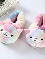 cheap -Adults' Kigurumi Pajamas Slippers Anime Onesie Pajamas Plush Rainbow Cosplay For Men and Women Animal Sleepwear Cartoon Festival / Holiday Costumes