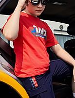 cheap -Kids Boys' Street chic Geometric Short Sleeve Tee Red