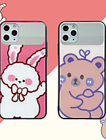 cheap -Case For Apple iPhone 7 iPhone 7P iPhone 8 iPhone 8P iPhone X iPhone iPhone XS iPhone XR iPhone XS max iPhone 11 iPhone 11 Pro iPhone 11 Pro Max Mirror Back Cover Animal Cartoon TPU PC