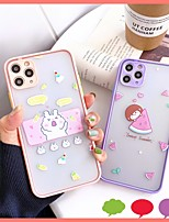 cheap -Case For APPLE  iPhone7 8 7plus 8plus  XR XS XSMAX  X SE  11  11Pro   11ProMax  Pattern Back Cover  TPU PC cute girl rabbit fruit