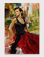 cheap -IARTS Hand Painted beauty Oil Painting with Stretched Frame For Home Decoration With Stretched Frame