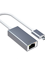 cheap -DM Type C to RJ45 Ethernet Port No Need Driver Support Mac And Windows