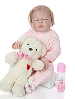 cheap -KEIUMI 22 inch Reborn Doll Baby & Toddler Toy Reborn Toddler Doll Baby Girl Gift Cute Lovely Parent-Child Interaction Tipped and Sealed Nails Full Body Silicone 23D35-C36-T16 with Clothes and