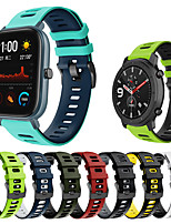 cheap -Sport Silicone Wrist Strap Watch Band for Amazfit Bip S / GTS / Amazfit Stratos 3 / Amazfit Stratos 2 2S / Amazfit Pace 1 / GTR 47mm / GTR 42mm / Bip Lite / Xiaomi Watch Color Bracelet Wristband