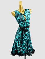 cheap -Latin Dance Dress Sash / Ribbon Bow(s) Girls' Training Daily Wear Sleeveless Cotton
