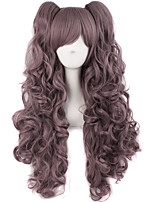 cheap -Synthetic Wig Curly Wavy With Bangs Wig Long Light golden Violet Pink Light Blonde Dark Brown Wine Red Synthetic Hair 28 inch Women's Anime Cosplay Creative Blue Purple