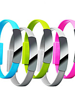 cheap -Mini Short Flat Bracelet iPhone Data Charger Cable for iPhone Phones Women Men Casual 2 in 1 Wristband Bracelet