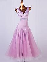 cheap -Ballroom Dance Dress Split Joint Women's Training Sleeveless High 98%Wool2%lycra