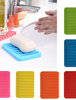 cheap -Silica Soap Holder Dish Saver Gel Water Shower Drying Bathroom Silicone Storage Soap-Dish Plate Tray Drain Box