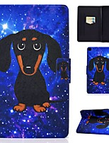 cheap -Case For Samsung Galaxy Tab A 10.1(2019)T510 Tab A 8.0(2019)T290 T295 TAB A 10.1 T580N T585C P610 T350 Card Holder with Stand Pattern Full Body Cases Dog PU Leather