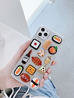 cheap -Case For Apple iPhone 11 / iPhone 11 Pro / iPhone 11 Pro Max Pattern Back Cover Food / Transparent / Cartoon TPU