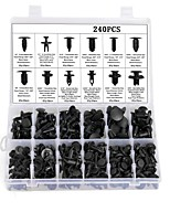 cheap -240pcs Automobile Buckle Plastic Rivets 12 Kinds Of Common Fasteners For Decorative Panel Door Clip Bumper