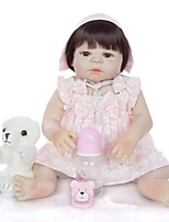cheap -KEIUMI 22 inch Reborn Doll Baby & Toddler Toy Reborn Toddler Doll Baby Girl Gift Cute Lovely Parent-Child Interaction Tipped and Sealed Nails Full Body Silicone 23D01-C47-T19 with Clothes and