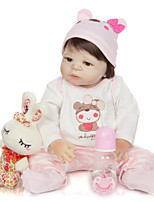 cheap -KEIUMI 22 inch Reborn Doll Baby & Toddler Toy Reborn Toddler Doll Baby Girl Gift Cute Washable Lovely Parent-Child Interaction Full Body Silicone 23D07-C126-T23 with Clothes and Accessories for