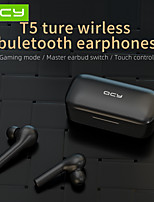 cheap -QCY T5 Wireless Bluetooth Headphones v5.0 Touch Control Stereo Headphones Hd Talking With 380mah Battery
