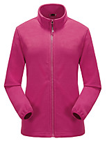 cheap -Women's Hiking Fleece Jacket Winter Outdoor Thermal / Warm Windproof Fleece Lining Breathable Winter Fleece Jacket Full Length Visible Zipper Hunting Fishing Climbing Red / Dark Purple / Light Purple