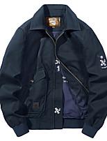 cheap -Men's Hiking Jacket Hiking Windbreaker Outdoor Thermal / Warm Windproof Breathable Jacket Top Cotton Hunting Fishing Climbing Army Green / Khaki / Dark Blue / Camping / Hiking / Caving / Winter