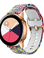 cheap -Replacement 20mm Coloured Drawing Silicone Sport Smart Strap for Samsung Galaxy Watch 42mm Watch Band