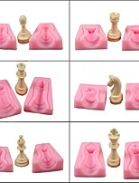 cheap -Chess Silicone Mold 6pcs Fondant Mold diy Handmade Chocolate Mold Cake Mold