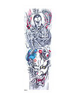 cheap -6 Sheets Randomly  3D Realistic Full Arm Temporary Tattoos For Men Women Fake Arm Sleeve Tattoo TQB131-140