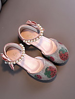 cheap -Girls' Flats Comfort PU Big Kids(7years +) Pink / Silver Spring / Summer