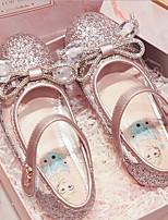 cheap -Girls' Flats Flower Girl Shoes PU Big Kids(7years +) Pink / Silver Summer