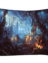 cheap -Ancient Castle Evil Pumpkin Classic Theme Wall Decor 100% Polyester Contemporary Wall Art Wall Tapestries Decoration