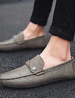 cheap -Men's Summer / Winter Casual / British Daily Outdoor Loafers & Slip-Ons Walking Shoes Leather / Nappa Leather Breathable Non-slipping Wear Proof Dark Brown / Black / Gray