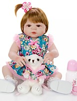 cheap -KEIUMI 22 inch Reborn Doll Baby & Toddler Toy Reborn Toddler Doll Baby Girl Gift Cute Lovely Parent-Child Interaction Tipped and Sealed Nails Full Body Silicone 23D03-C332-S24-S01-H78-T19 with