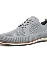 cheap -Men's Spring / Fall Casual / British Daily Party & Evening Sneakers Walking Shoes Tissage Volant Breathable Wear Proof Blue / Gray