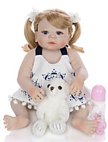 cheap -KEIUMI 22 inch Reborn Doll Baby & Toddler Toy Reborn Toddler Doll Baby Girl Gift Cute Washable Lovely Parent-Child Interaction Full Body Silicone 23D11-C299-H71-T19 with Clothes and Accessories for