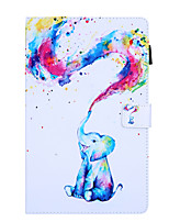 cheap -Case For Samsung Galaxy Samsung Tab A 8.0 2019 SM-P200  P205 360 Rotation  Shockproof Magnetic Full Body Cases Word  Phrase  Butterfly  Panda PU Leather  TPU