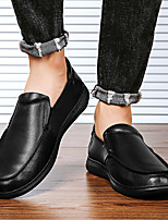 cheap -Men's Summer / Fall Business / Vintage / British Office & Career Loafers & Slip-Ons Nappa Leather Breathable Non-slipping Wear Proof Black
