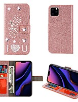 cheap -Case For iPhone 12  iPhone 11 Pro Max iPhone Xs Max Wallet / Card Holder / with Stand Full Body Cases Glitter Shine Angel PU Leather Case For iPhone 7 8 iPhone 7 Plus 8 Plus XR X XS iPhone SE(2020) 5S