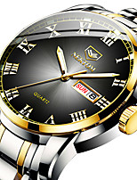 cheap -NEKTOM Men's Steel Band Watches Quartz Sporty Stylish Casual Water Resistant / Waterproof Stainless Steel Black / Silver / Gold Analog - Digital - White+Blue Black+Gloden Red+Golden / Japanese