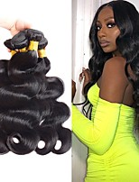 cheap -4 Bundles Hair Weaves Brazilian Hair Body Wave Human Hair Extensions Remy Human Hair 100% Remy Hair Weave Bundles 400 g Natural Color Hair Weaves / Hair Bulk Human Hair Extensions 8-28 inch Natural