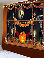 cheap -Tapestry Halloween trick or treat trading ghost home decoration wall hanging quilt large tablecloth party decoration