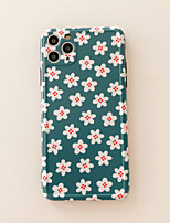 cheap -Case For Apple iPhone 11 / iPhone 11 Pro / iPhone 11 Pro Max Frosted / Pattern Back Cover Flower TPU