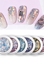 cheap -1 pcs Durable / Light and Convenient Plastics Sequins For Finger Nail Creative nail art Manicure Pedicure Daily / Festival Romantic / Sweet