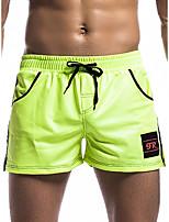cheap -Men's Basic Boxers Underwear - Normal Low Waist Black Green S M L